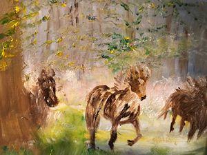 Wild Horses wandering