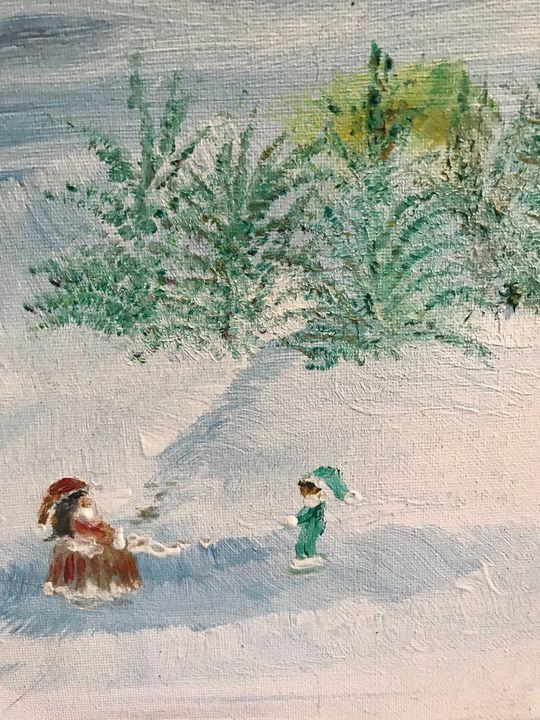 snow play - Deborahmillsopen door