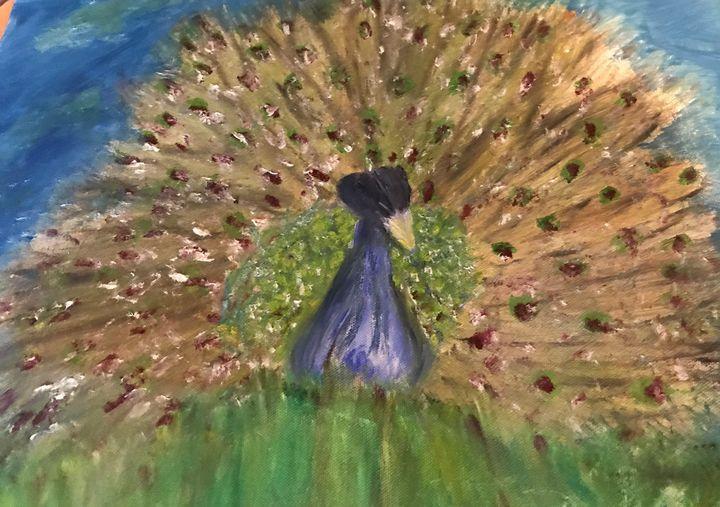 proud peacock - Deborahmillsopen door