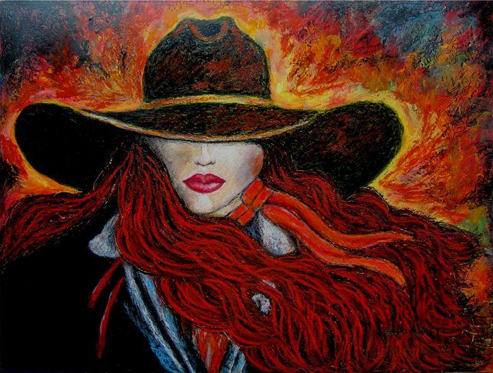Cowgirl Portrait III - Krafts Art