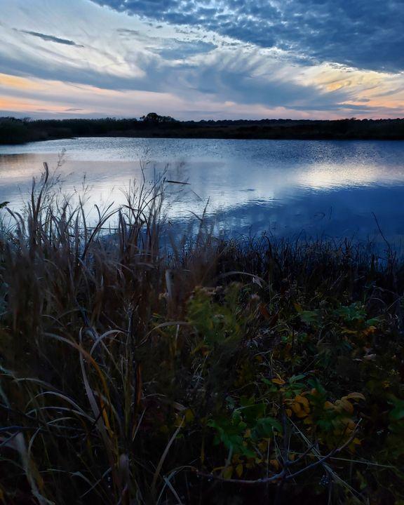Sunset Salt Marsh - The Adhizen