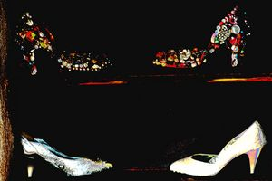 Abstract Bedazzled High Heels