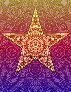 Star Design - Rainbow - Janelle Dimmett Illustration and Design