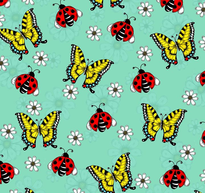 Ladybugs and Swallowtails - Janelle Dimmett Illustration and Design