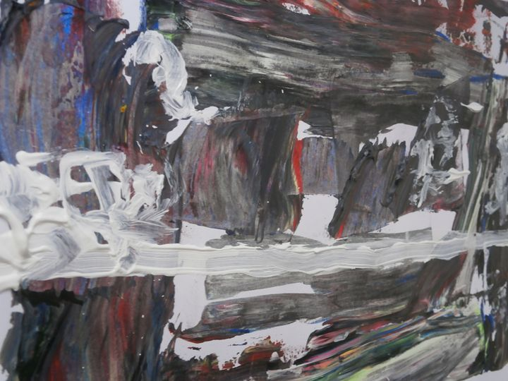Abstract movement of colour and form - The artist P G Kimble