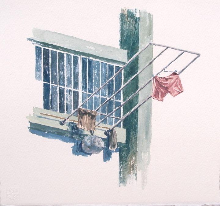 A window in Butterfly Estate - Diary in June