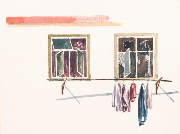 A pair of windows in Sheung Shui Wai - Diary in June