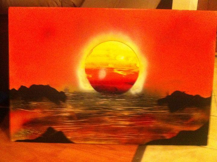 Bleeding Sunset - Art of Ragin