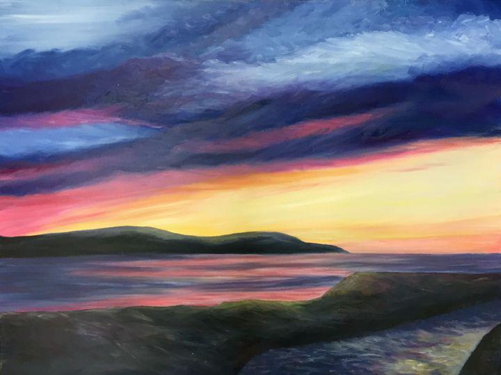 Sunset Over Loch Ryan - Carol-Anne Lennon