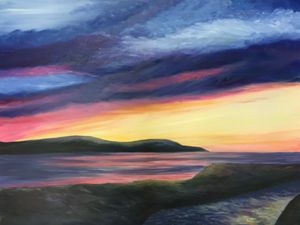 Sunset Over Loch Ryan