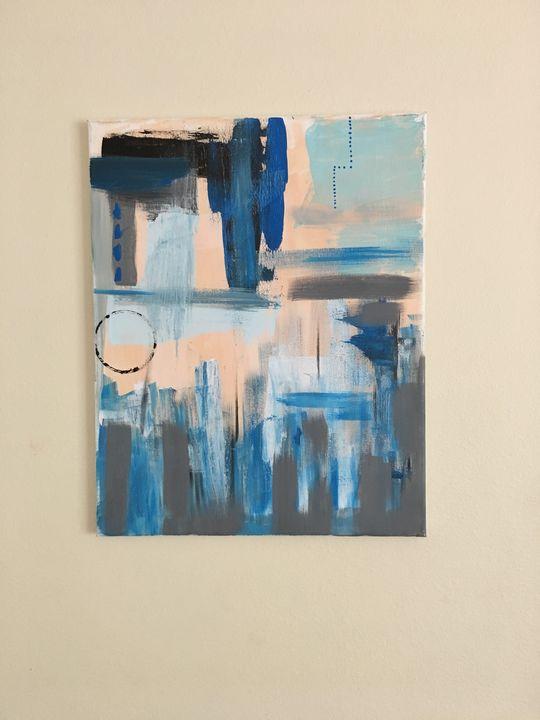 Shades of Bleu Abstract Art - Lanore