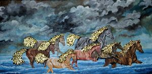 RUNNING HORSES INTHE SEA