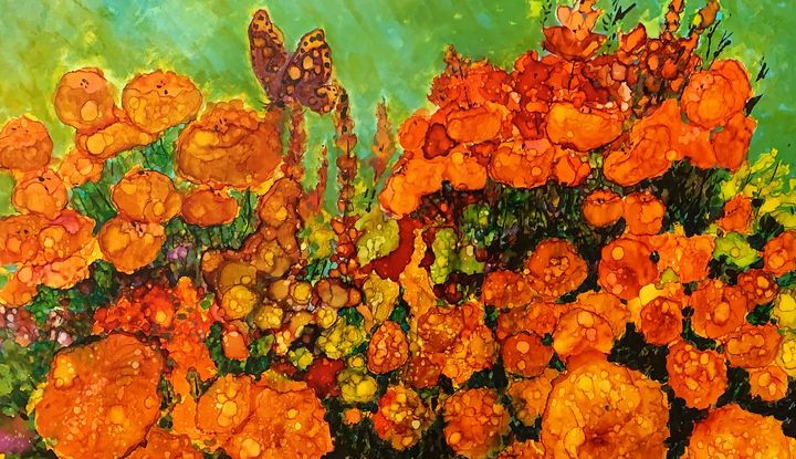 Spring is in the Air - Jerry Aissis Watercolors and Oils