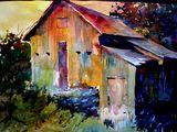 Original Painting of a Barn