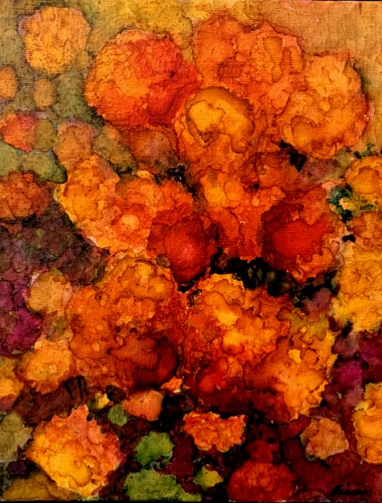 In Full Bloom - Jerry Aissis Watercolors and Oils