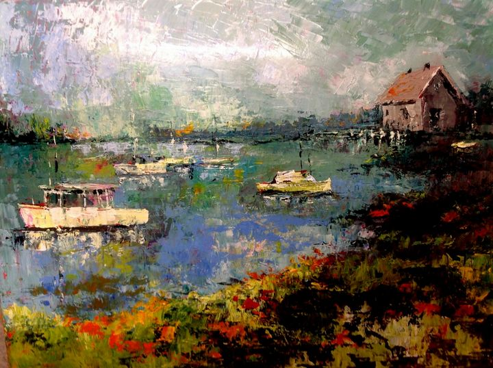 Quiet Harbor - Jerry Aissis Watercolors and Oils