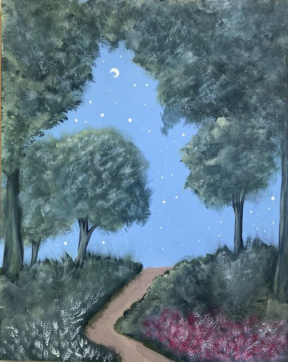 Tree Trail - Acrylic Canvas Paintingd
