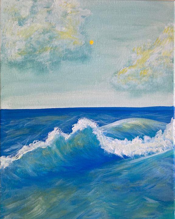 Crashing waves - Acrylic Canvas Paintingd