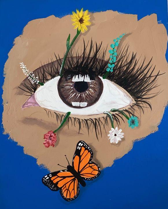 Natures Eye - Acrylic Canvas Paintingd