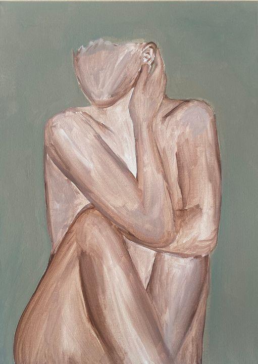 Self Nurture - Acrylic Canvas Paintingd