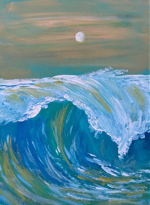 Crashing Wave - Acrylic Canvas Paintingd