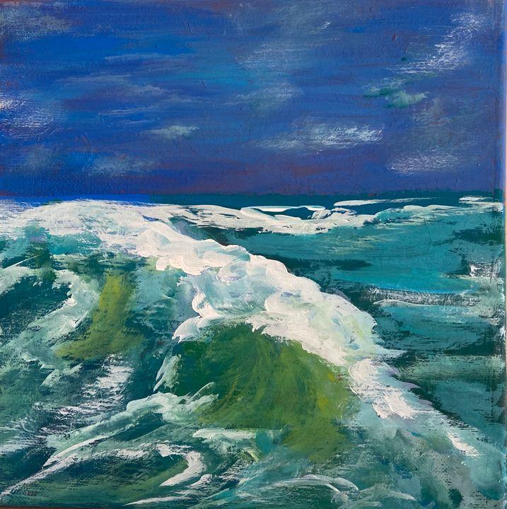 Abstract wave crash - Acrylic Canvas Paintingd