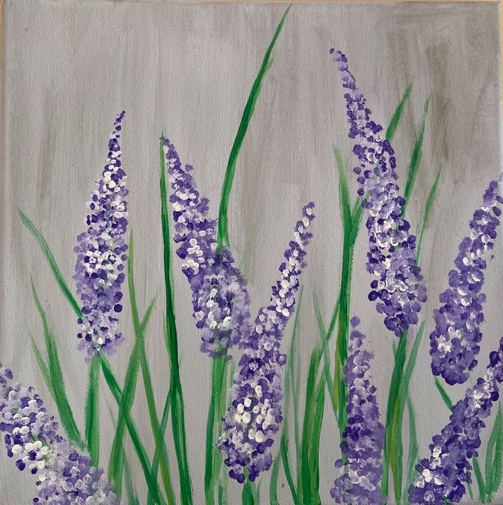 Lavender Flowers - Acrylic Canvas Paintingd