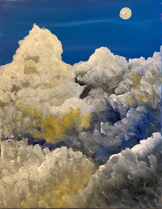 Blue clouds - Acrylic Canvas Paintingd