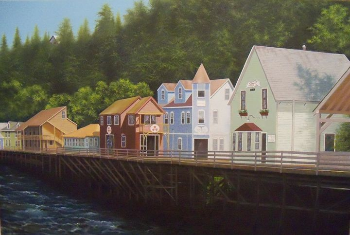 Ketchikan's Creek Street - Creative Works of Jerry Sauls