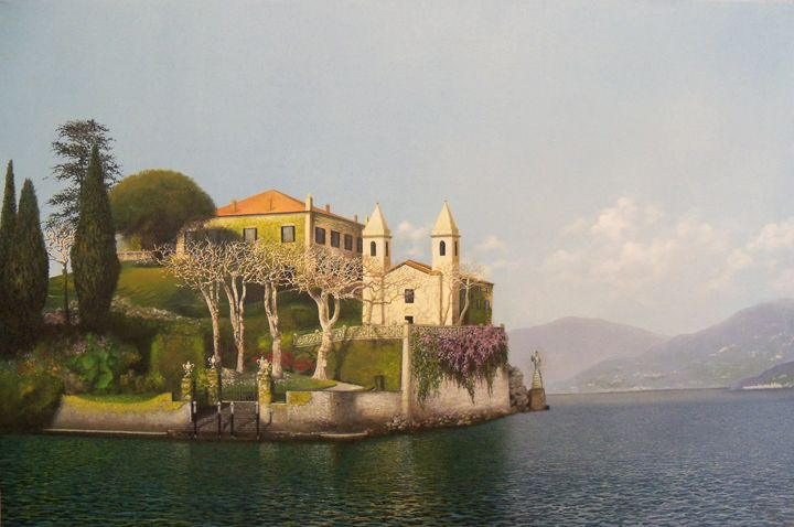 Villa at Lake Como - Creative Works of Jerry Sauls