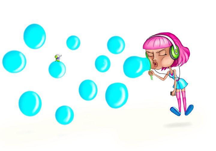 Bubbles - Rouge Art