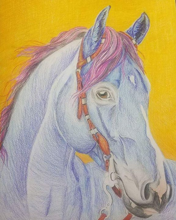 The Blue Steed - Rose-Art