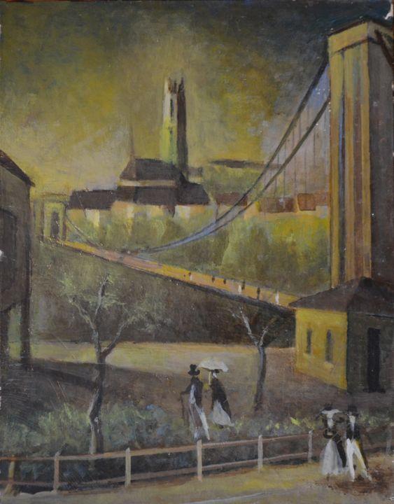 Zaehringen Bridge in Fribourg - Emile Haymoz