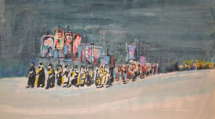 Religious Procession in Russia - Emile Haymoz