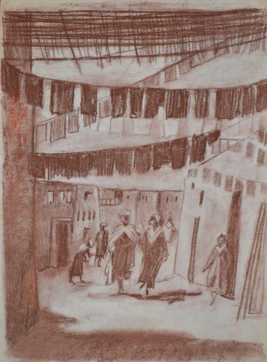 Street in Fes - Emile Haymoz