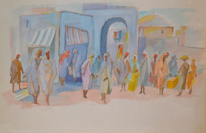 In a Maroccan Market - Emile Haymoz