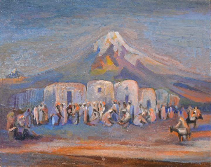 A maroccan market - Emile Haymoz