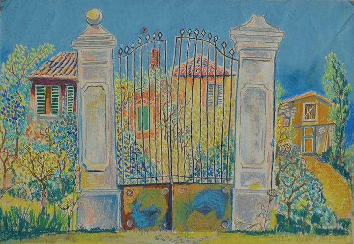 Garden entrance in France - Emile Haymoz