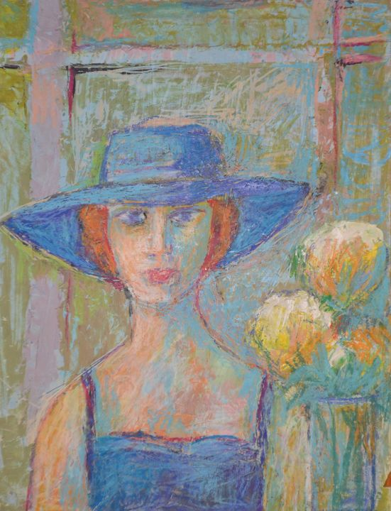 Woman with Hat - Emile Haymoz