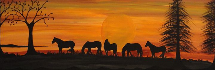 Wild wild horses - Her painted canvas