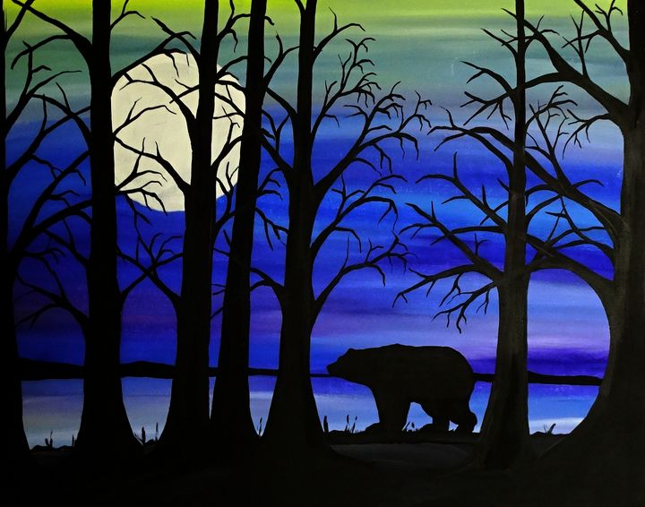 Brother Bear - Her painted canvas