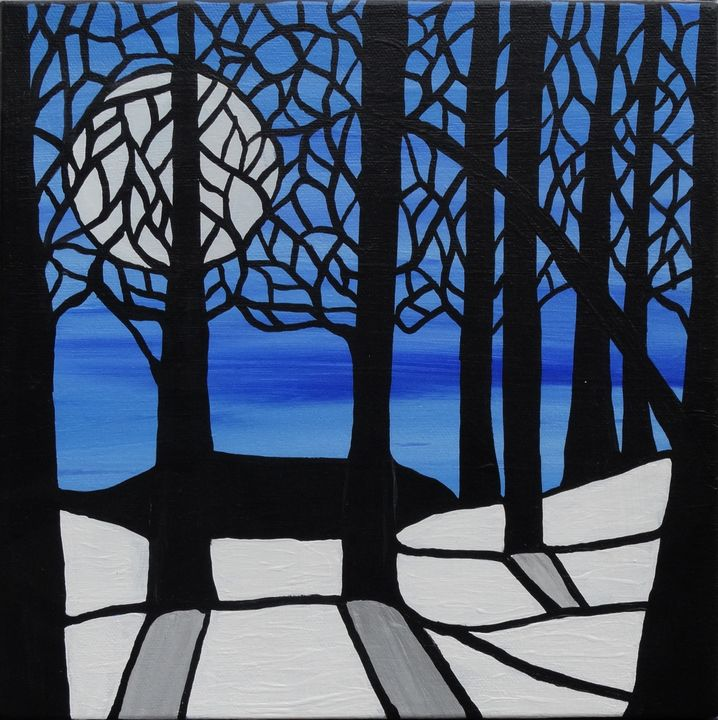 Stained glass forest - Her painted canvas