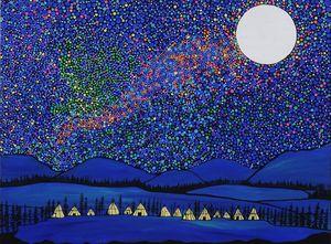 Village under the stars
