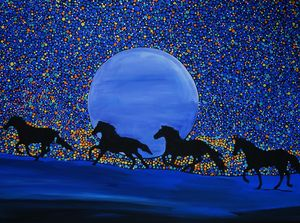 The horse's blue moon