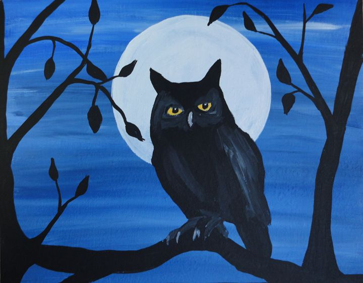 Night Guardian, 2015 - Her painted canvas