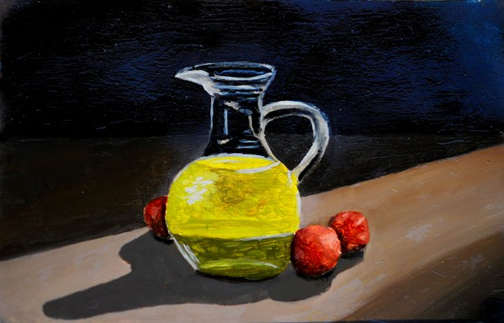 Oil on table - Zeitlin Gallery