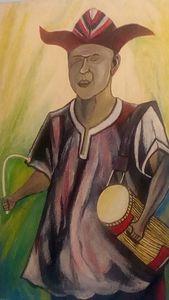 A Yoruba drummer