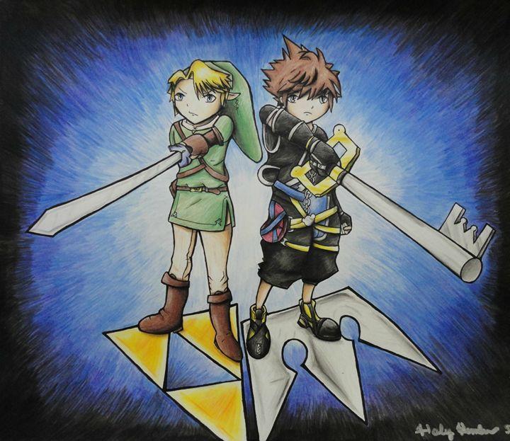 Link and Sora - Haleyangelo Artwork