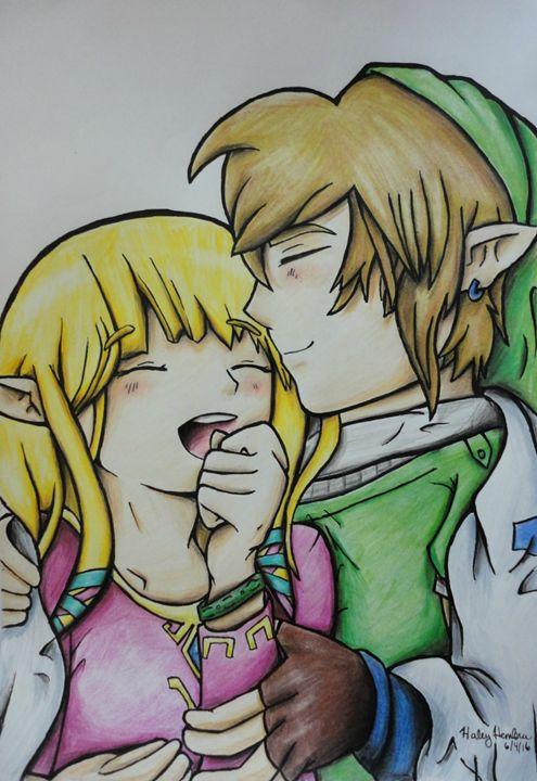 Link and Zelda - Haleyangelo Artwork