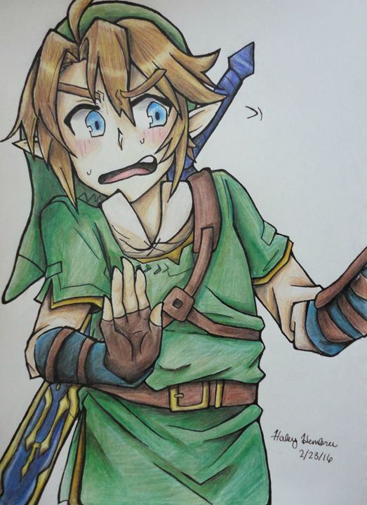 Blushing Link - Haleyangelo Artwork